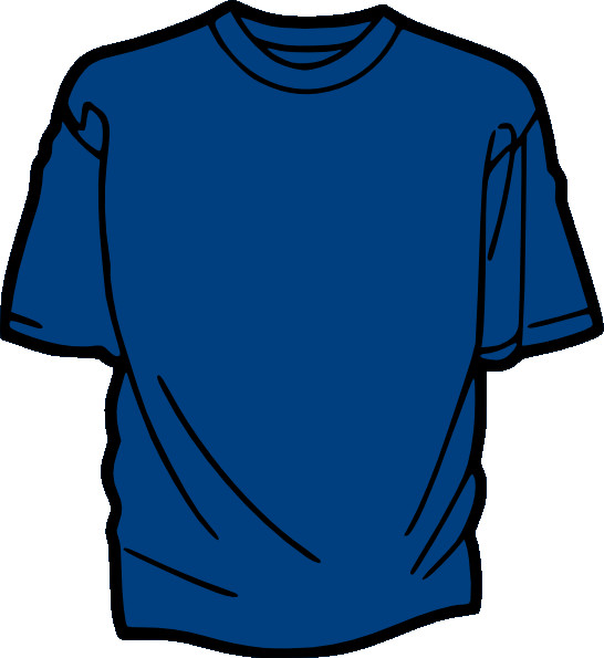 Blue T Shirt Template T Shirt Template Blue Clip Art at Clker Vector Clip