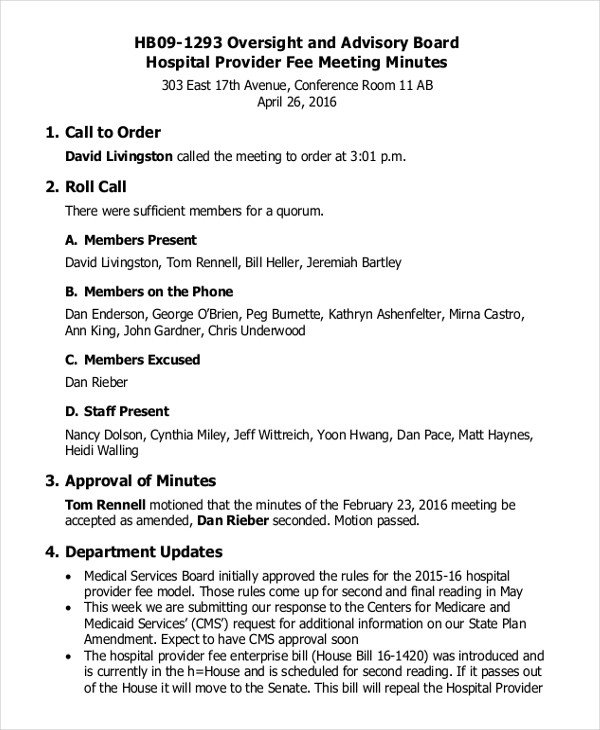 Board Meeting Minutes Templates 19 Board Meeting Minutes Examples Word Apple Pages