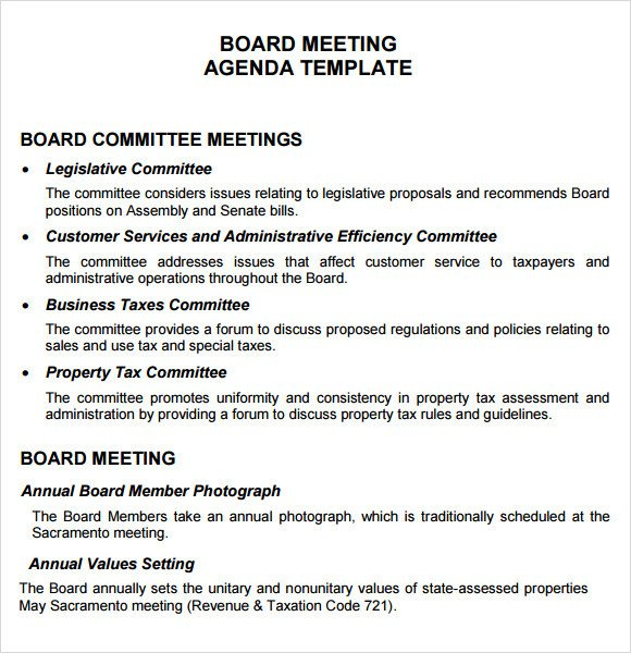 Board Meeting Minutes Templates Board Meeting Agenda 11 Free Samples Examples format