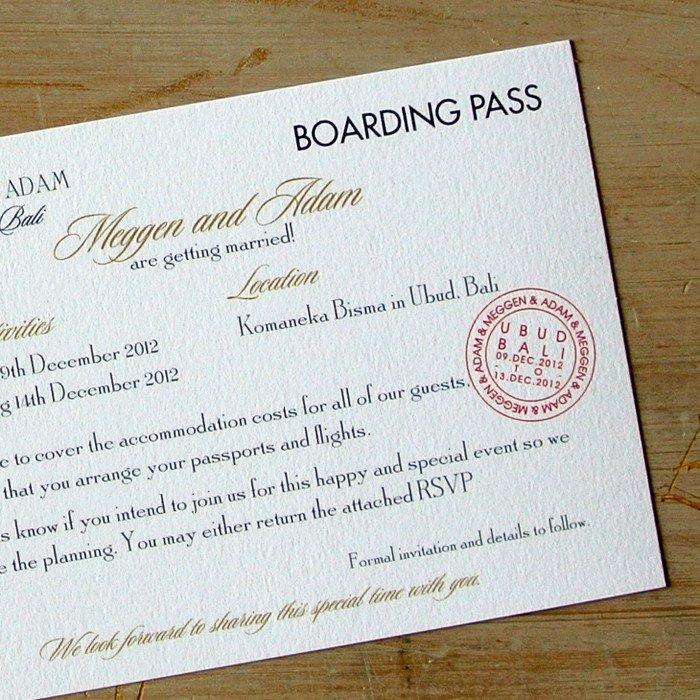 Boarding Pass Wedding Invitations Boarding Pass Wedding Invitations Little Flamingo