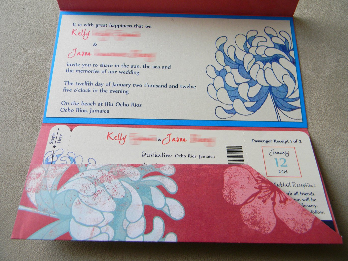Boarding Pass Wedding Invitations Diy Boarding Pass Wedding Invitations – Part E Pocket