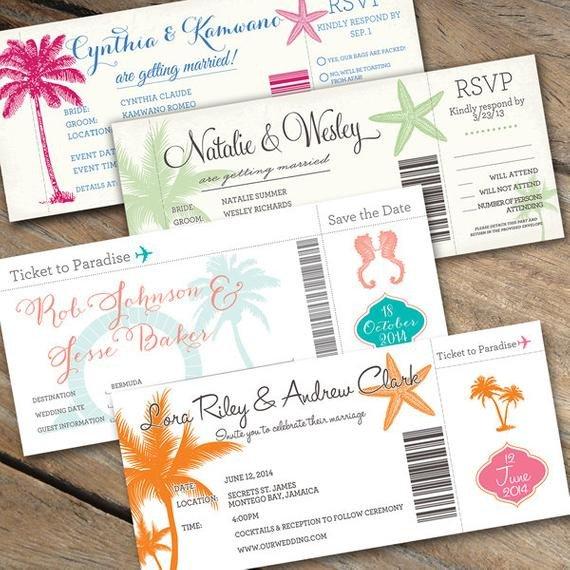 Boarding Pass Wedding Invitations Items Similar to Boarding Pass Wedding Invitations