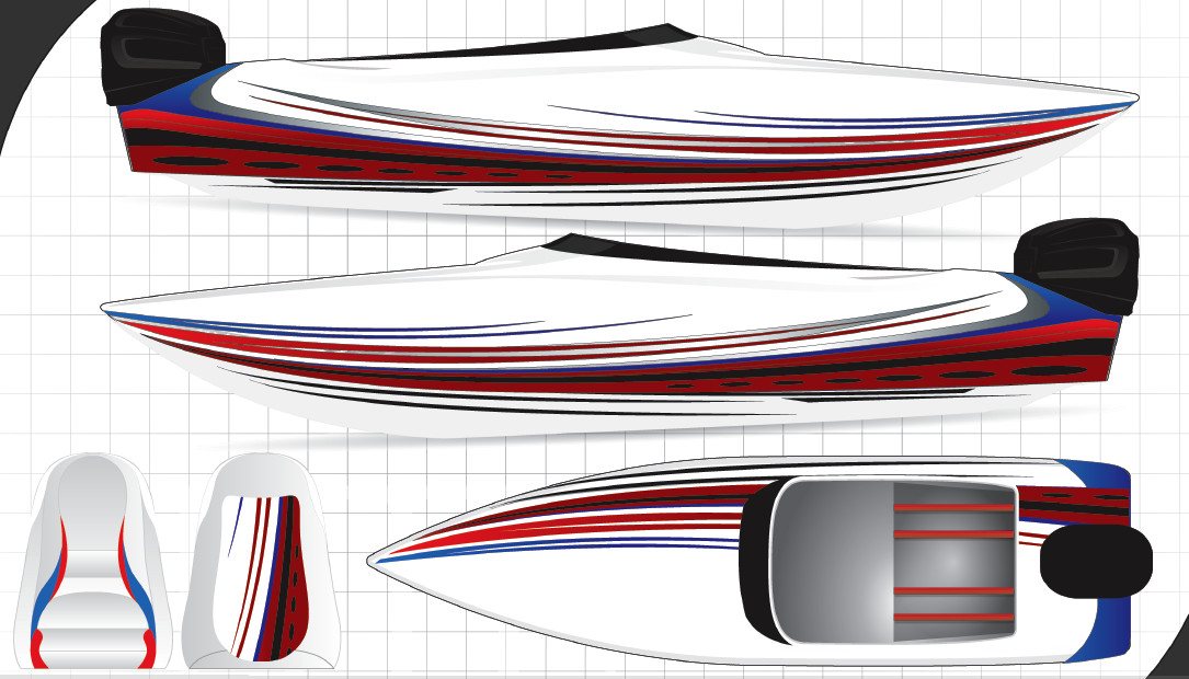 Boat Wrap Design Template Boat Graphics