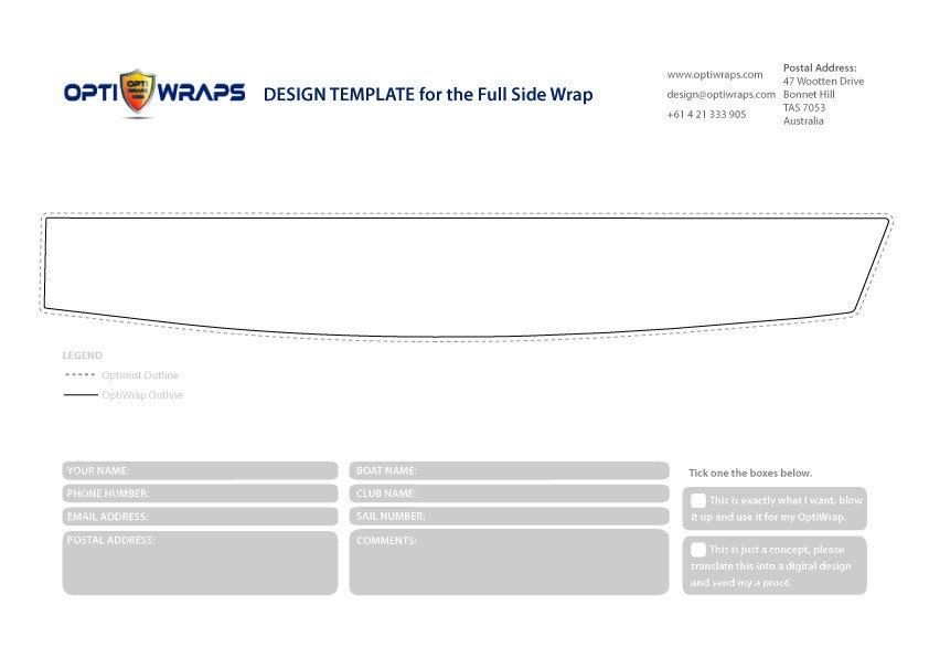 Boat Wrap Design Template Diy Design Templates – Opti Wraps