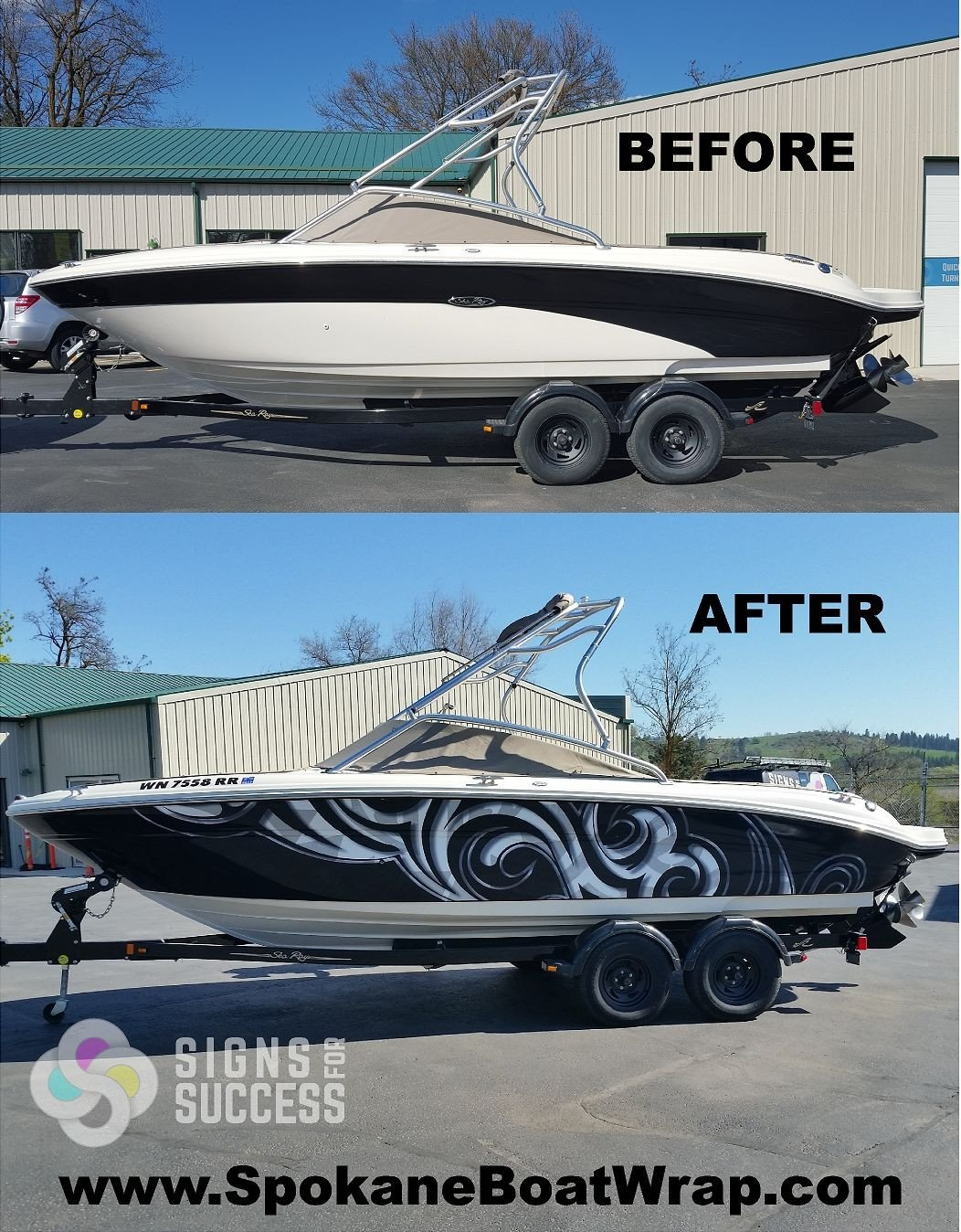 Boat Wrap Design Template Sea Ray Custom Vinyl Wrap Boats