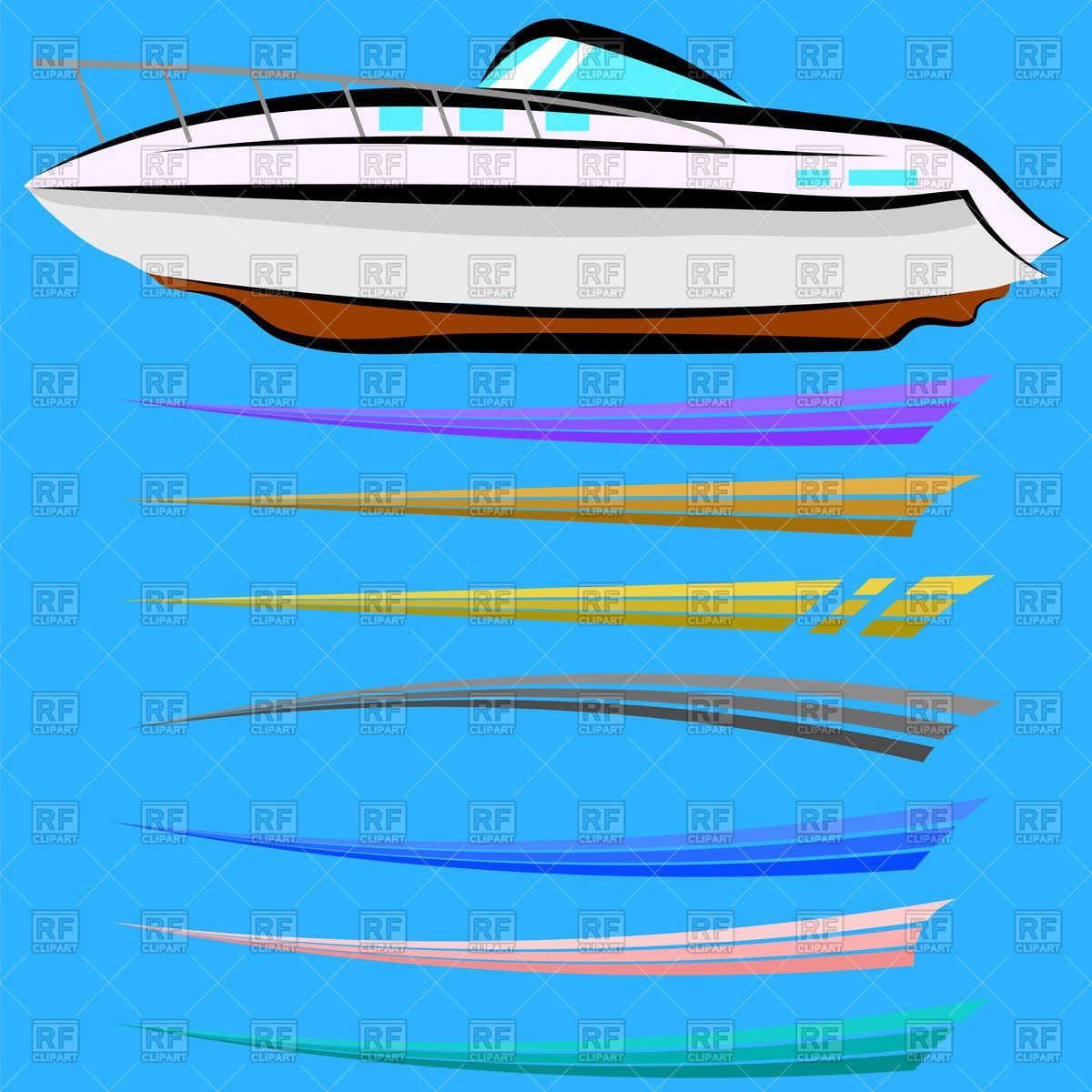 Boat Wrap Design Template Set Of Boat Graphics Design Vector Image Of Objects