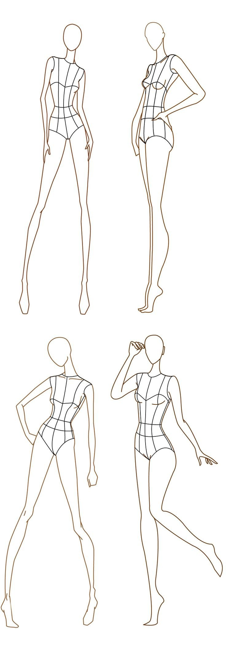 Body Template for Fashion Design 1000 Images About Fashion Illustration Templates On