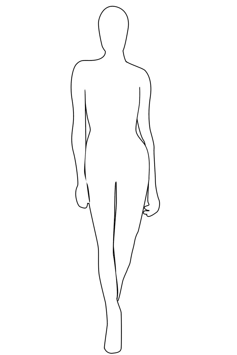 Body Template for Fashion Design Fashion Model Outline Templates