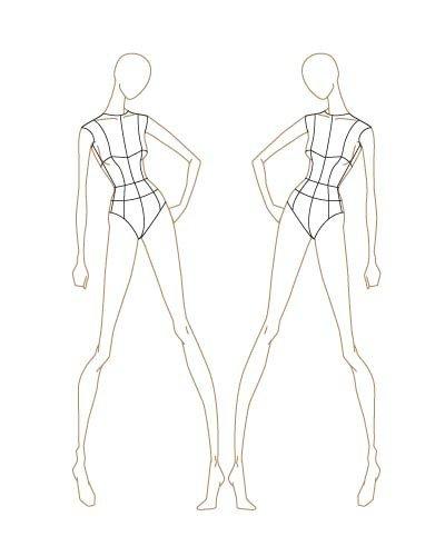 Body Template for Fashion Design Fashion Sketch Templates