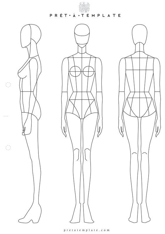 Body Template for Fashion Design Fashion Templates Fashion Sketchbook and Woman Body On