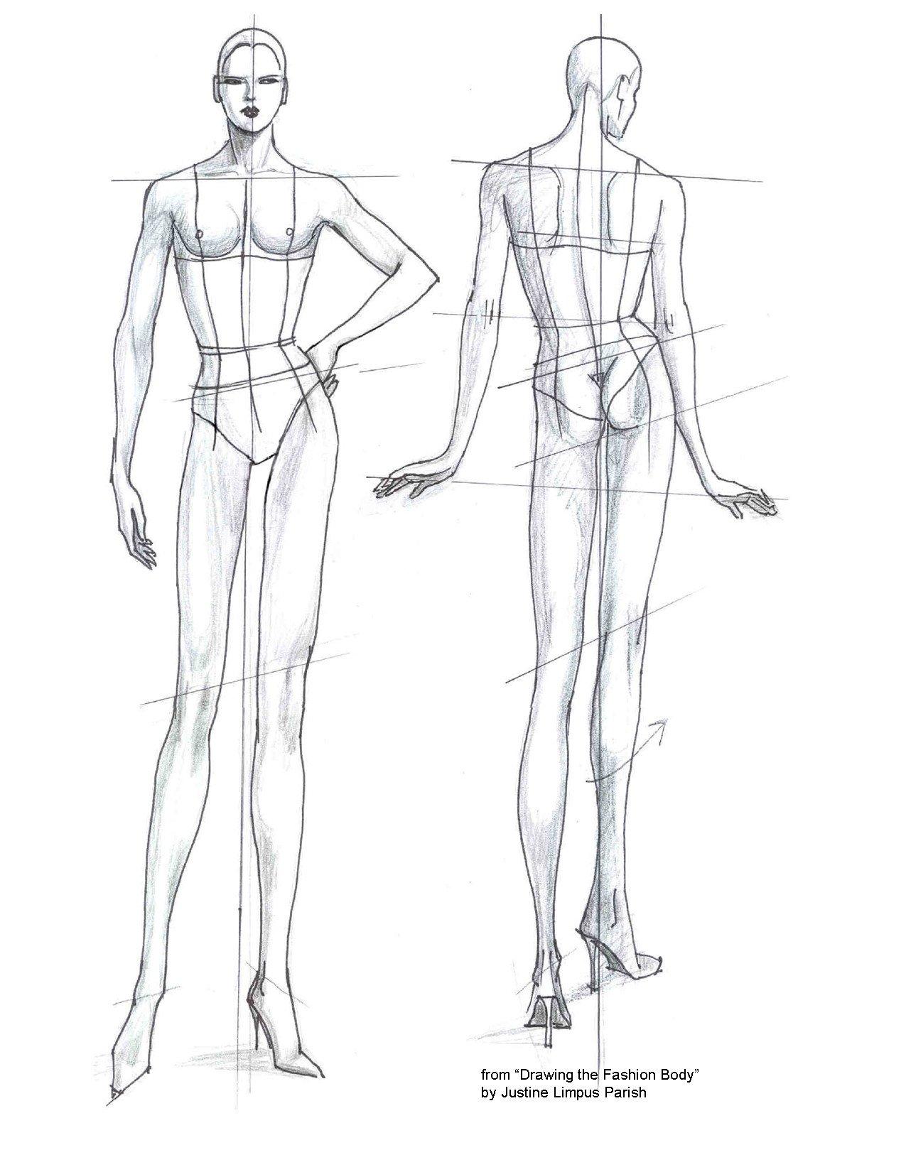 Body Template for Fashion Design Fashion Templates