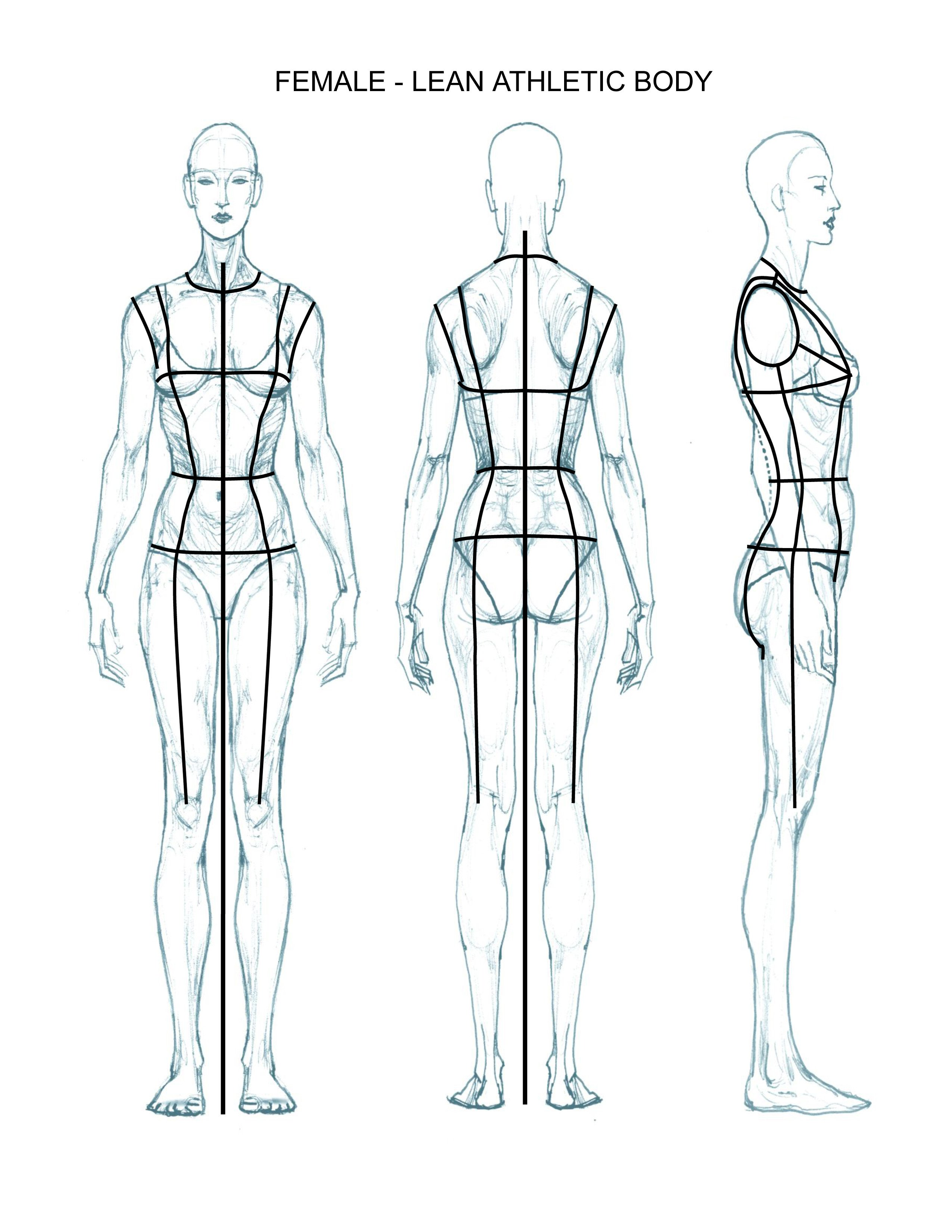 Body Template for Fashion Design Ideations & Croquis