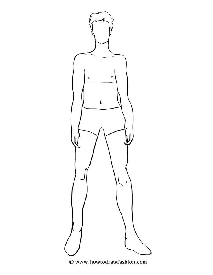 Body Template for Fashion Design Male Fashion Template Google Search