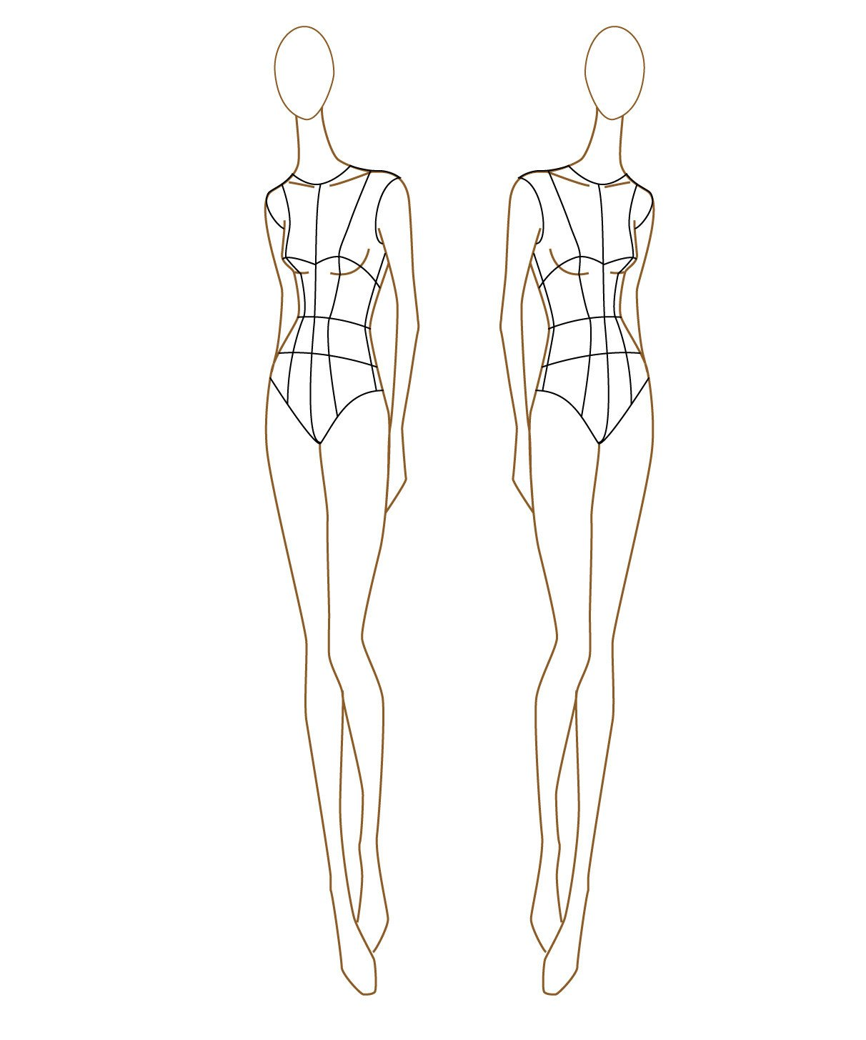"""Body Template for Fashion Design """"i Don T Do Fashion I Am Fashion """" Fashion Figure"""