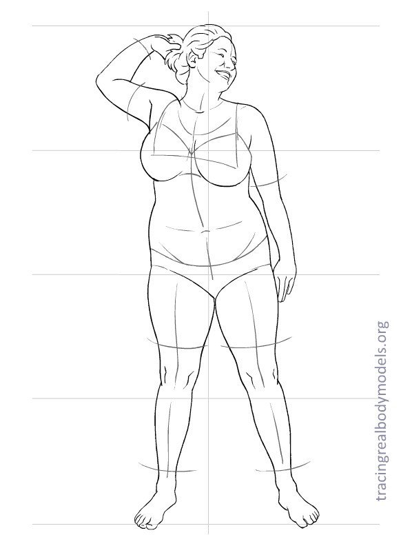 Body Template for Fashion Design Tracing Real Body Models