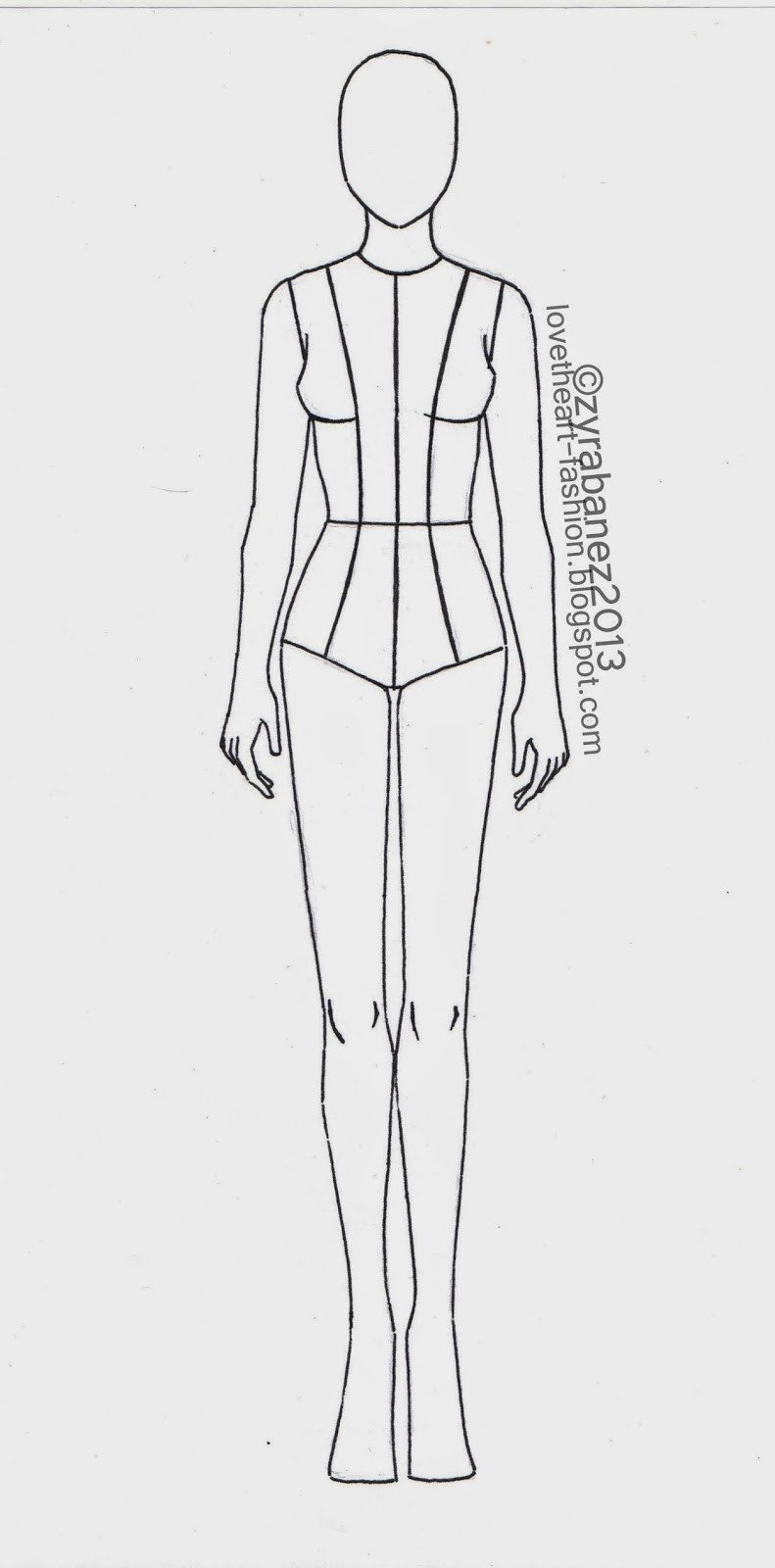 Body Template for Fashion Design Zyra Bañez August 2013