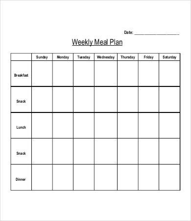 Bodybuilding Meal Planner Template 29 Meal Plan Templates Word Pdf Docs
