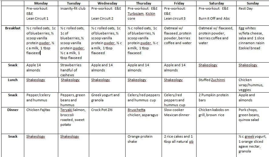 Bodybuilding Meal Planner Template Body Builder Meal Planning