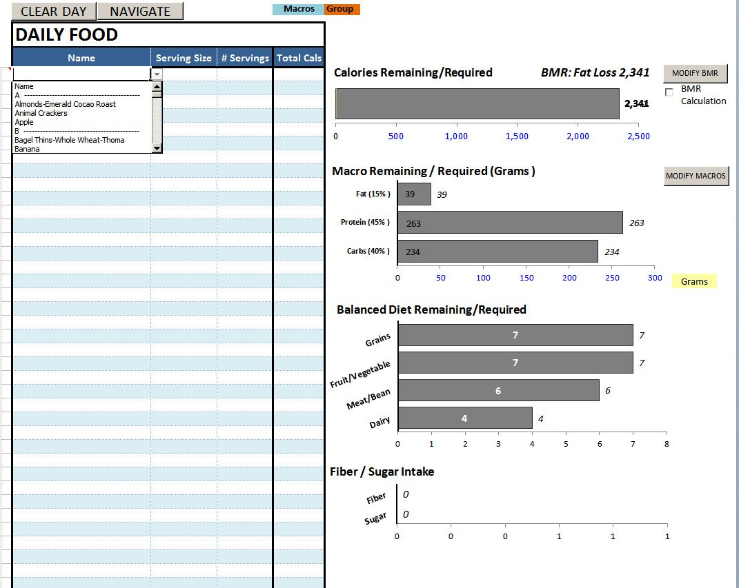 Bodybuilding Meal Planner Template Diet Spreadsheet Template Intended for Best Excel Sheet