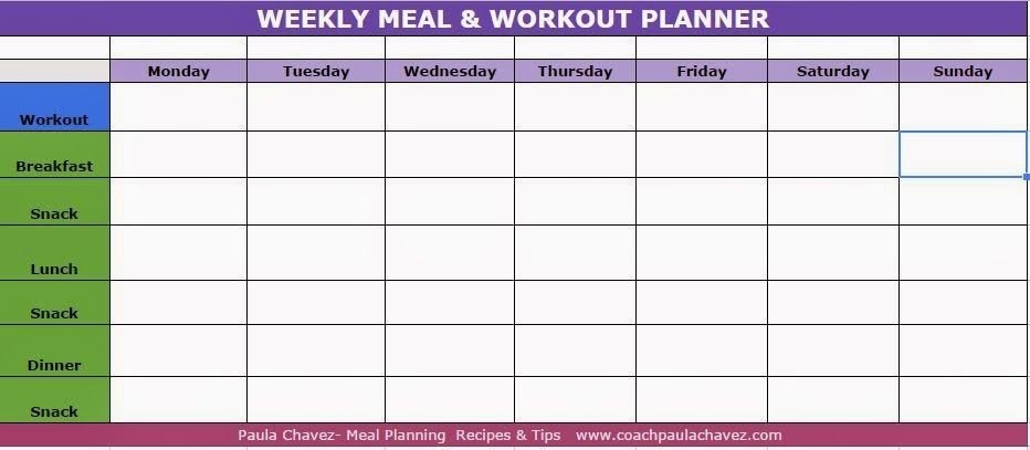 Bodybuilding Meal Planner Template Pin by Paula Chavez On Helpful Tips