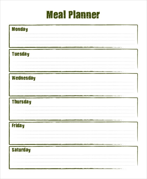 Bodybuilding Meal Planner Template Sample Meal Planning 7 Documents In Word Pdf