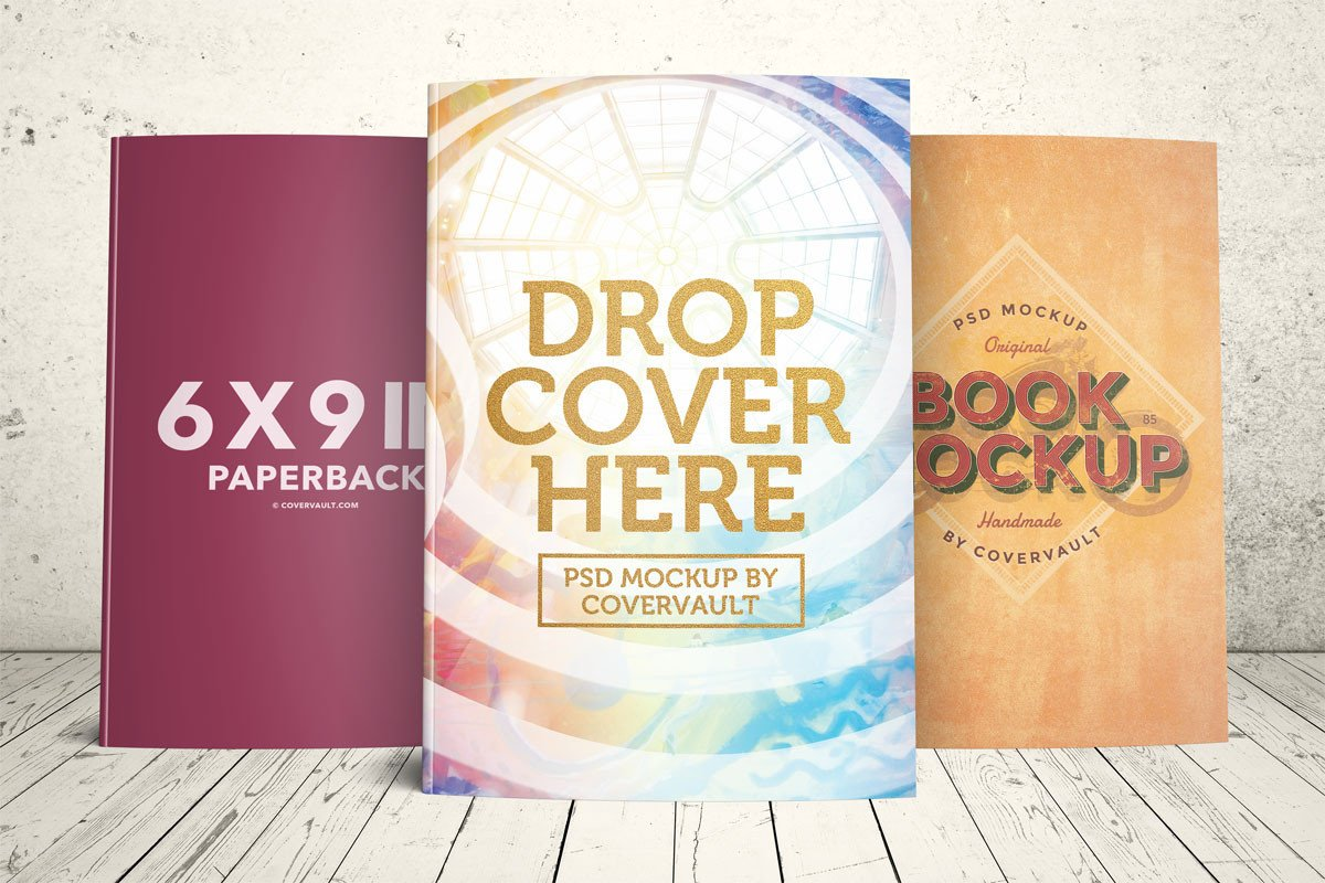 Book Cover Template Psd Covervault Free Psd Mockups for Books and More