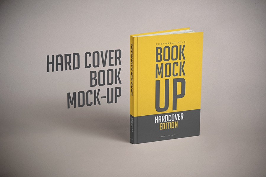 Book Cover Template Psd Hardcover Book Mock Up Template Psd On Behance