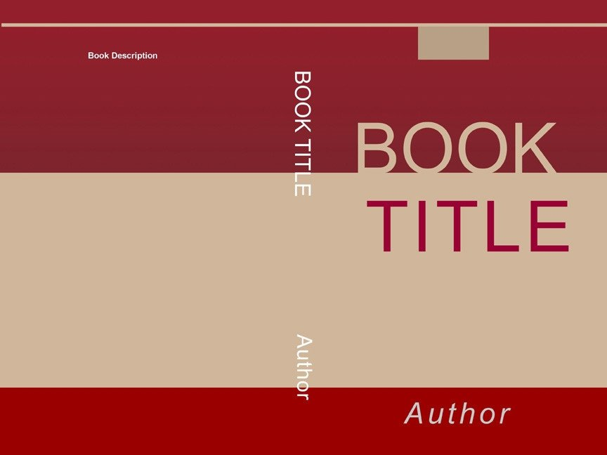 Book Cover Template Word Book Cover Template