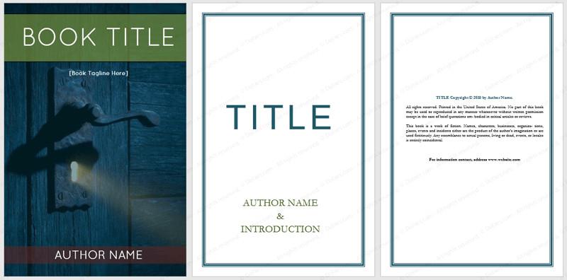 Book Cover Template Word Book Templates Dotxes