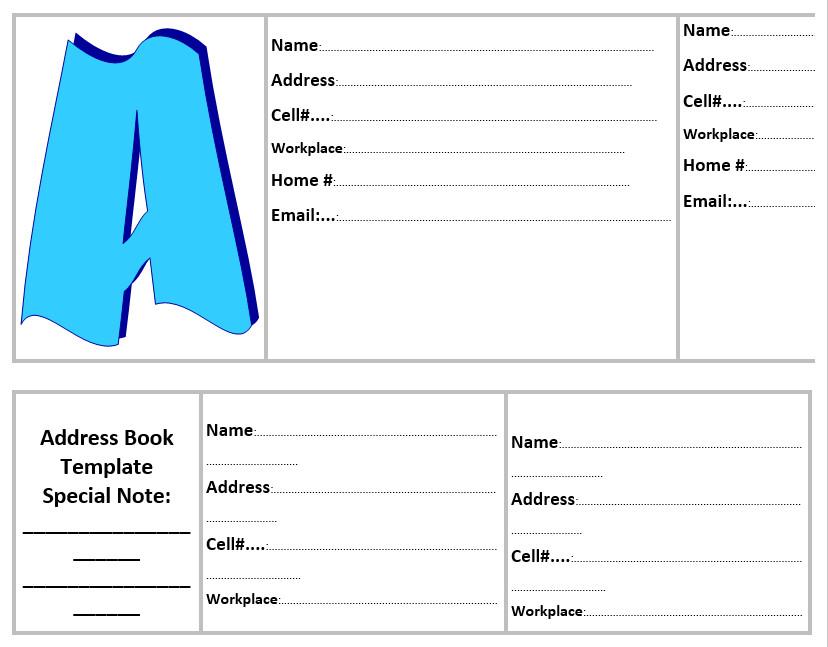 Book Template Microsoft Word 20 Free Address Book Templates Word Templates