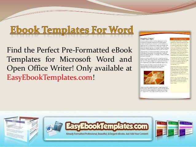 Book Template Microsoft Word Ebook Templates for Word