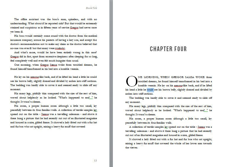 Book Template Microsoft Word Free Book Design Templates and Tutorials for formatting In