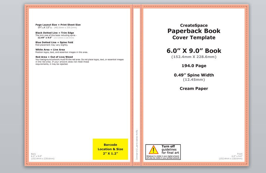 Book Template Microsoft Word How to Make A Full Print Book Cover In Microsoft Word for