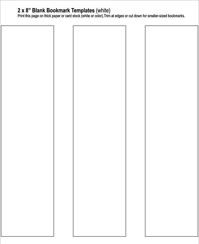 Bookmark Template for Word Blank Bookmark Template 135 Free Psd Ai Eps Word