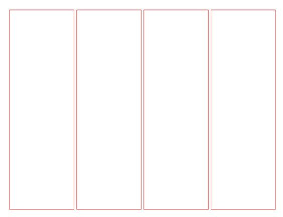 Bookmark Template for Word Blank Bookmark Template for Word