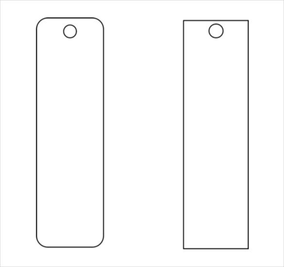 Bookmark Template for Word Blank Funeral Bookmark Template