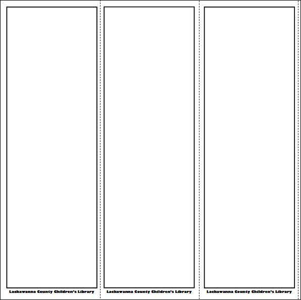Bookmark Template for Word Printable Bookmark Template