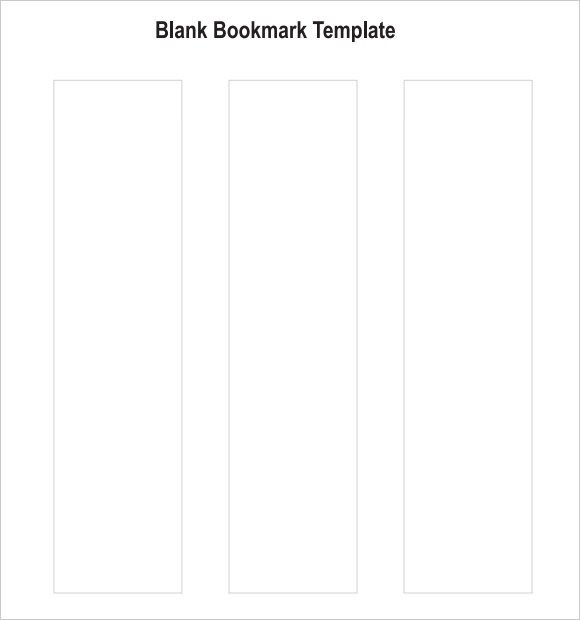 Bookmark Template for Word Sample Blank Bookmark 6 Documents In Pdf Word