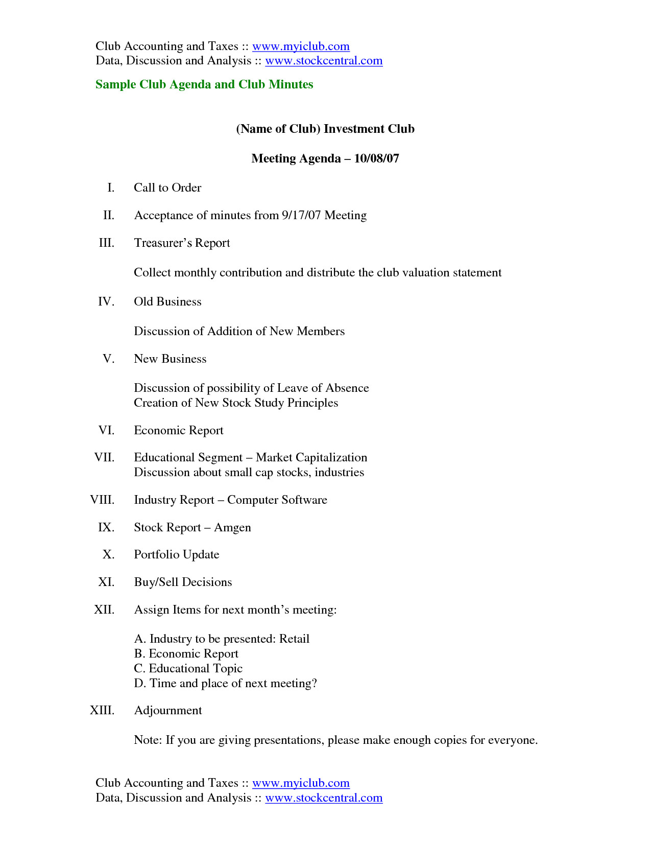 Booster Club Meeting Minutes Template Best S Of Club Meeting Minutes Template toastmaster