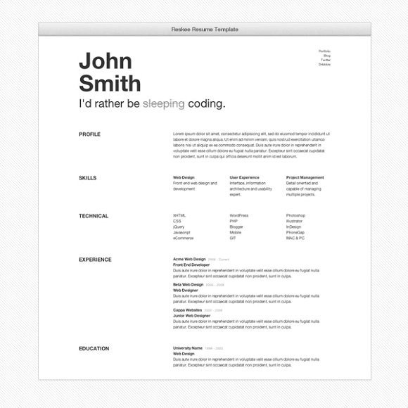 Bootstrap Resume Template Free Reskee Resume Bootstrap 3 Template Bootstrap themes