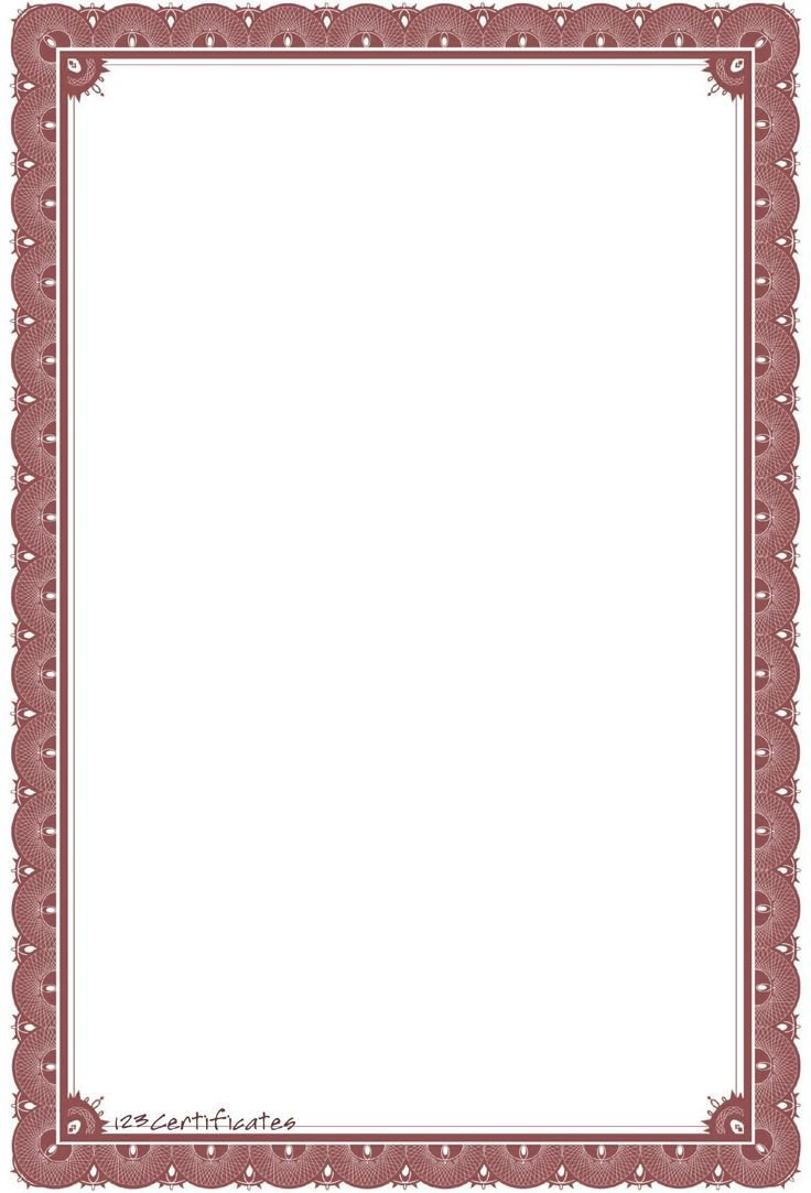Border Template for Word Background Templates formal Certificate Borders to