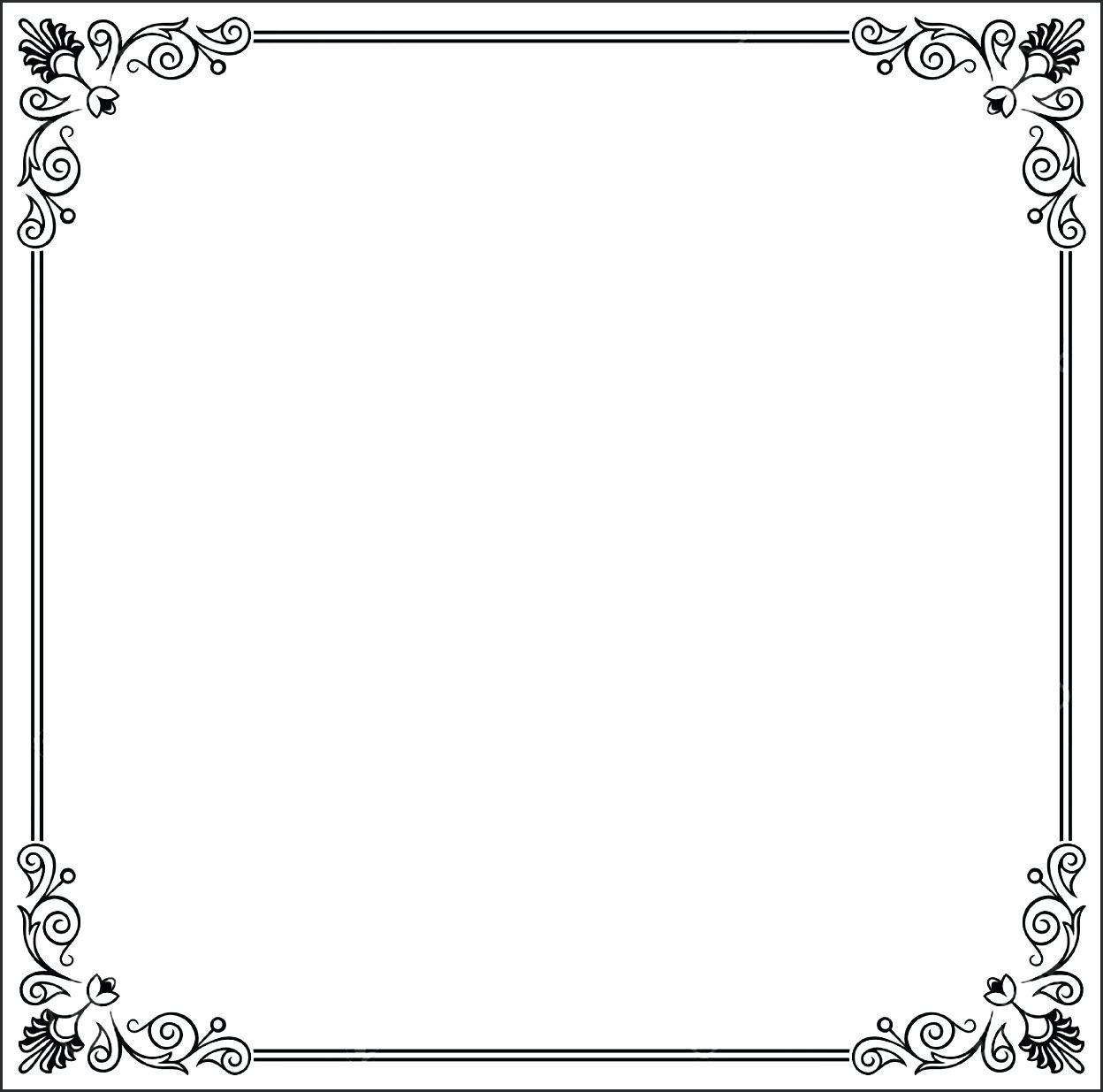 Border Template for Word Document Borders