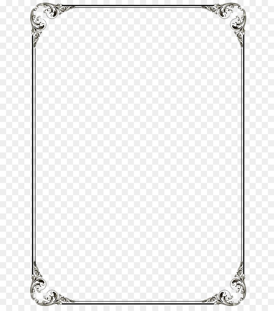 Border Template for Word Microsoft Word Template Clip Art Black Border Frame Png