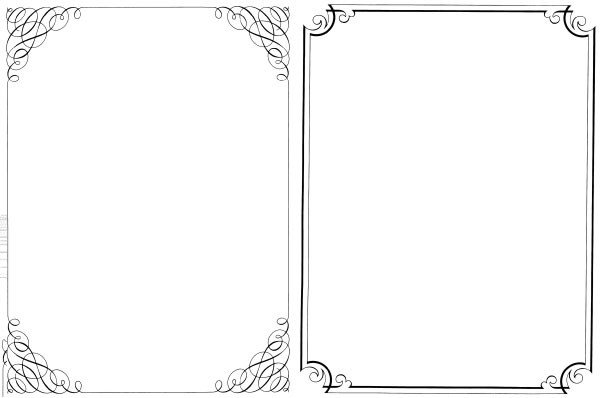 Borders Template for Word 200 Free Vintage ornaments Frames and Borders