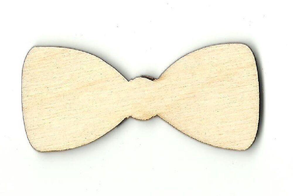 Bow Tie Cut Out Bow Tie Unfinished Wood Shape Craft Supply Laser Cut Out