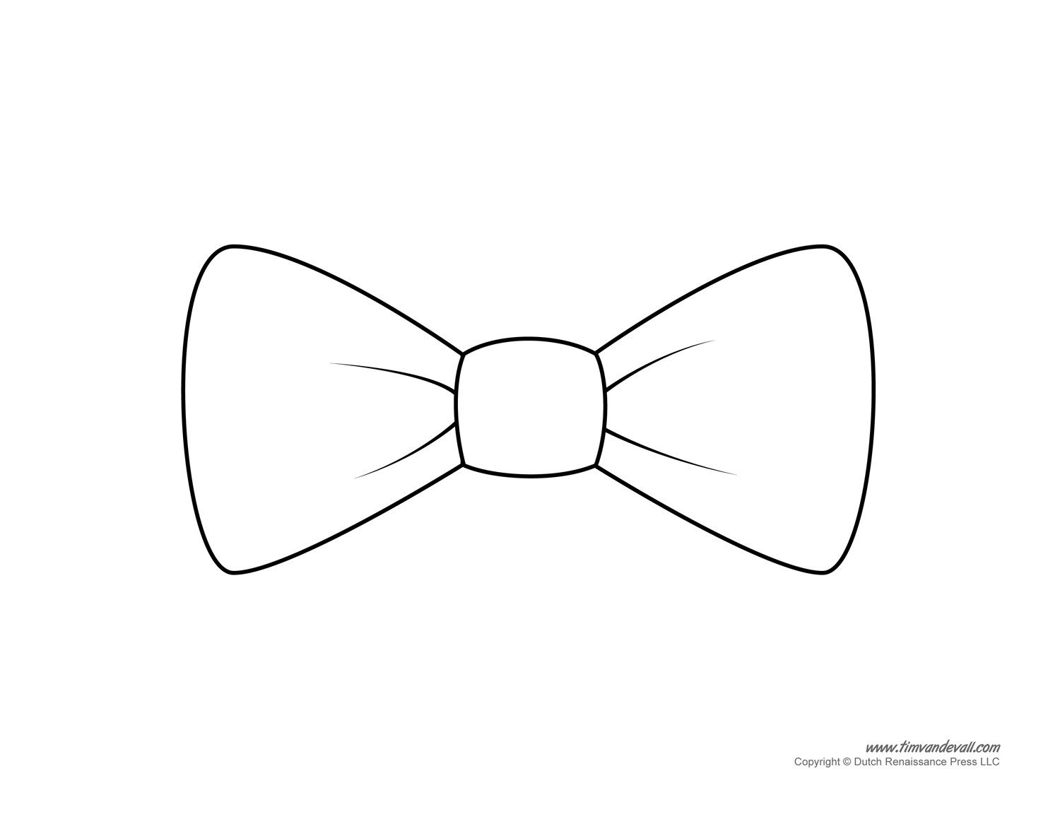 Bow Tie Cut Out Paper Bow Tie Templates
