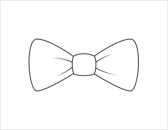 Bow Tie Template Printable 9 Printable Bow Tie Templates – Free Word Pdf format
