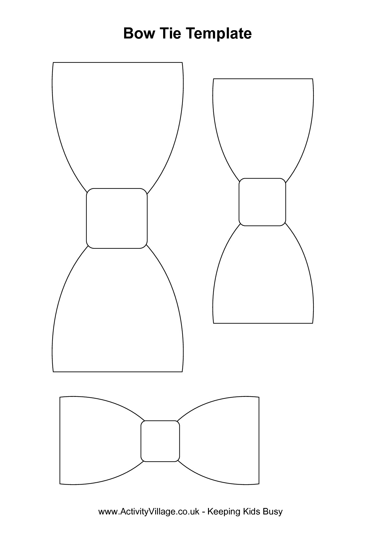 Bow Tie Template Printable Esie Bow Tie Clipart Clipart Suggest