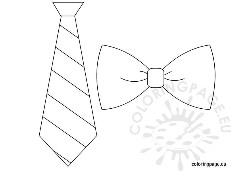 Bow Tie Template Printable Father S Day Coloring Page