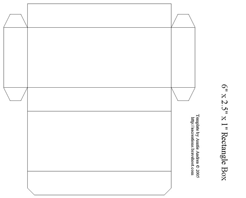 "Box Templates Free Printable 6"" Rectangle Box Busy Ness"